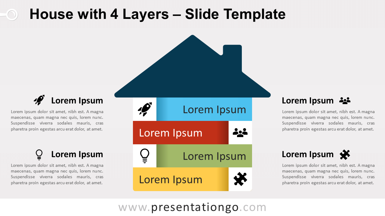 Free House with 4 Layers for PowerPoint and Google Slides