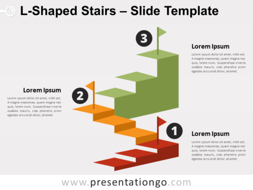 Free L-Shaped Stairs for PowerPoint