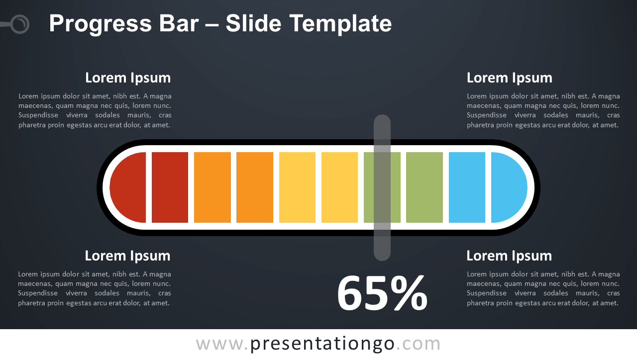 Progress Bar for PowerPoint and Google Slides (Dark Background)