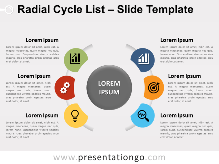 Free Radial Cycle List for PowerPoint