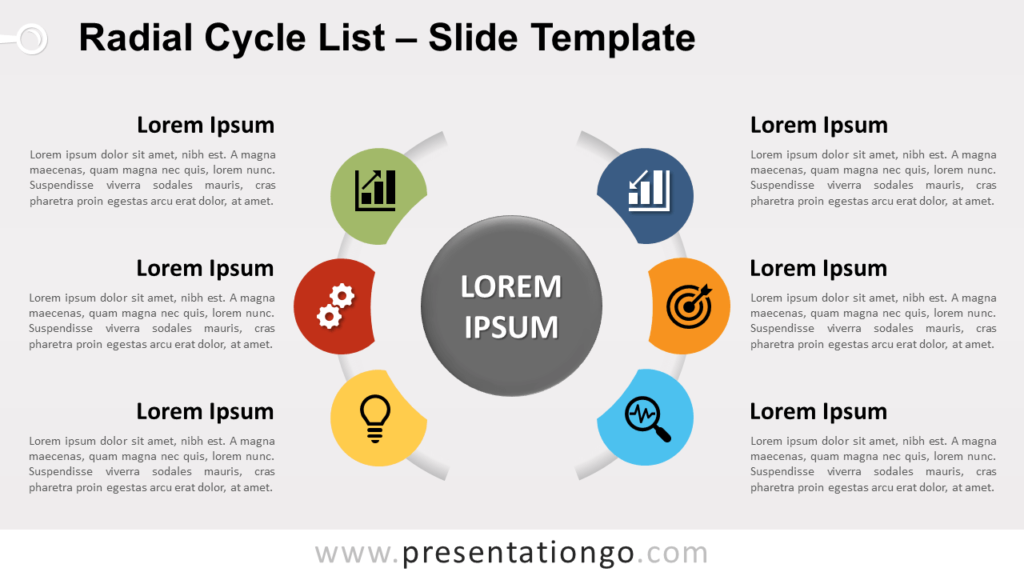Free Radial Cycle List for PowerPoint and Google Slides