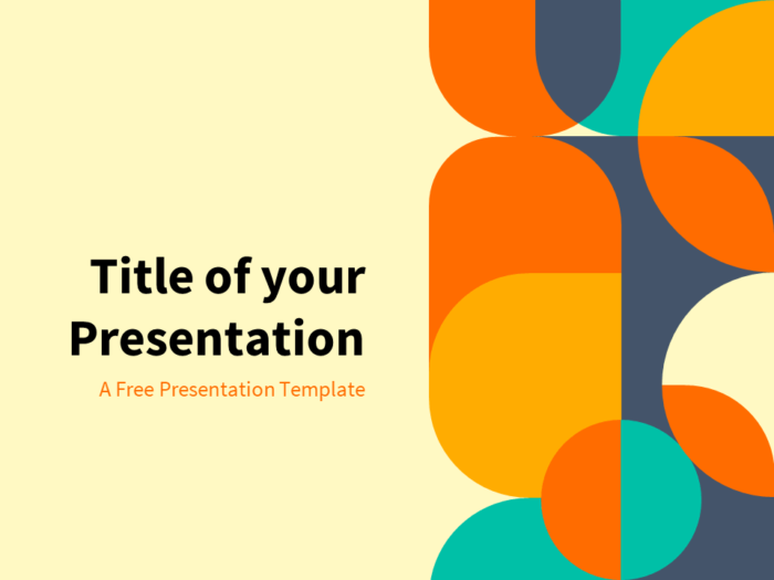 Seventies - Free Abstract Geometry Template for PowerPoint