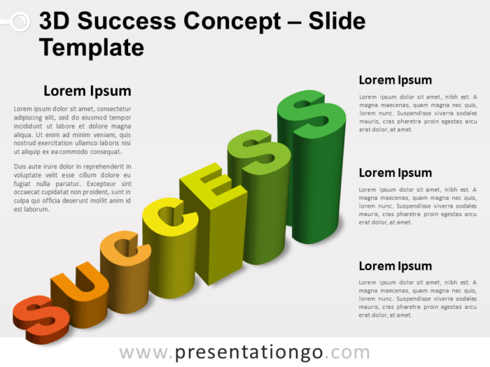 Free 3D Success for PowerPoint