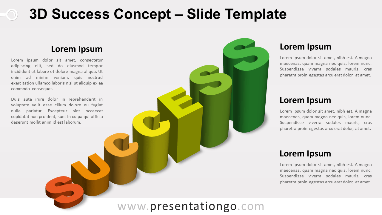 Free 3D Success for PowerPoint and Google Slides