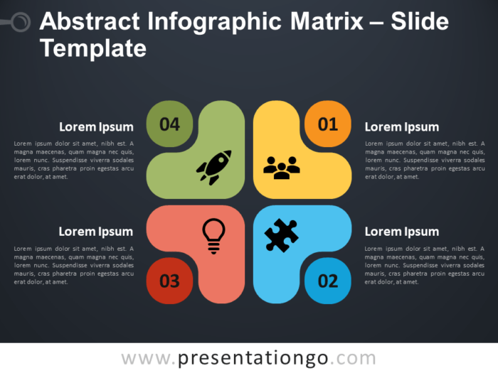 Free Abstract Matrix Infographic for PowerPoint