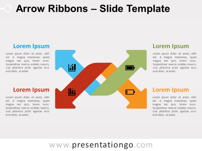 Free Arrow Ribbons for PowerPoint