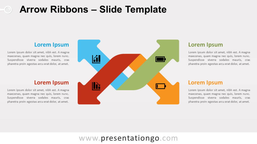 Free Arrow Ribbons for PowerPoint and Google Slides