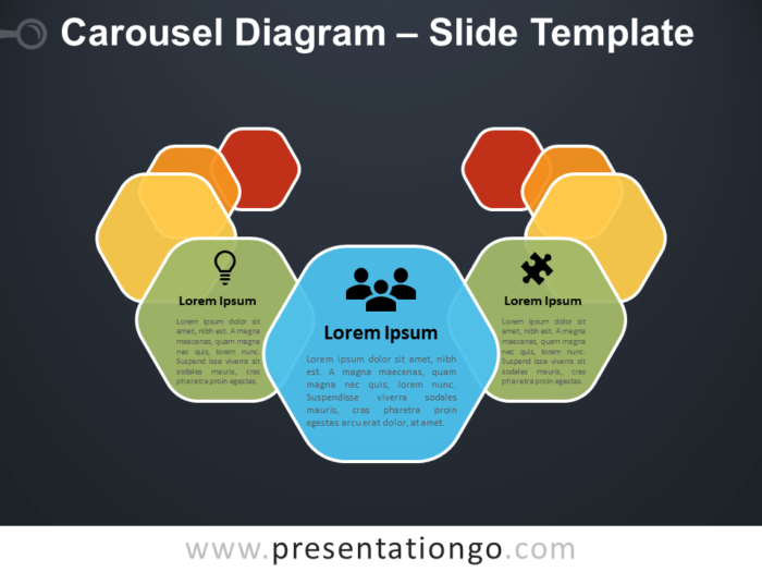 Free Carousel Diagram Infographic for PowerPoint