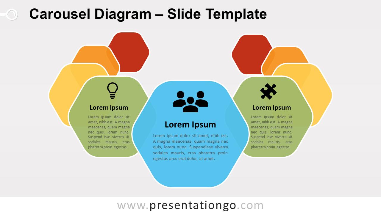 Free Carousel Diagram Slide for PowerPoint