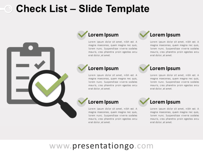 Free Check List Template for PowerPoint