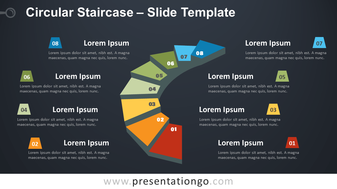 Free Circular Staircase Infographic for PowerPoint and Google Slides