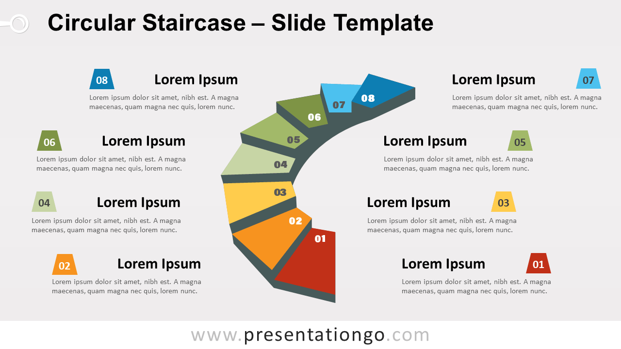 Free Circular Staircase for PowerPoint and Google Slides