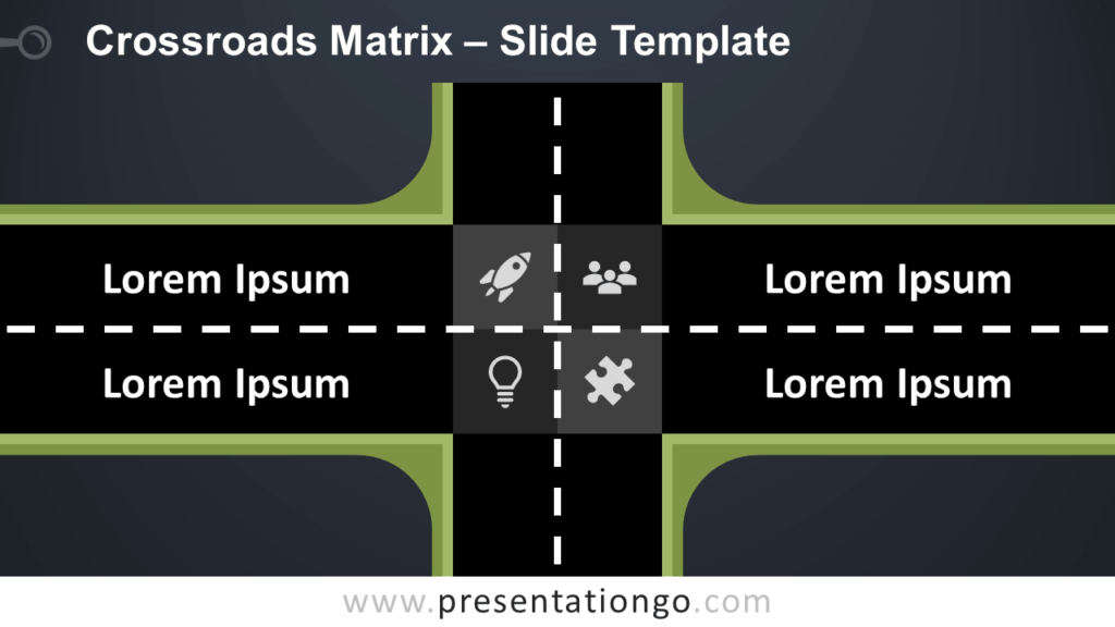 Free Crossroads Matrix Infographic for PowerPoint and Google Slides