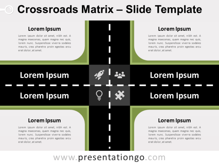 Free Crossroads Matrix for PowerPoint