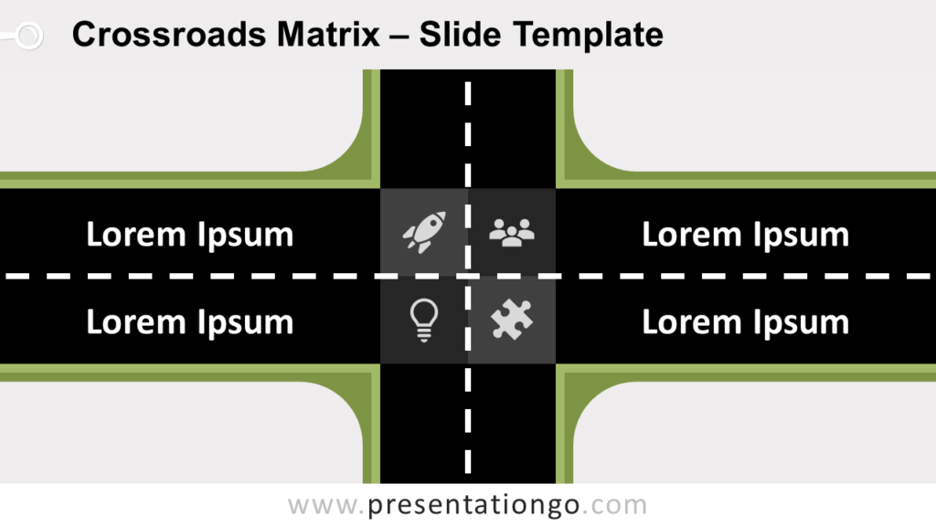 Free Crossroads Matrix for PowerPoint and Google Slides