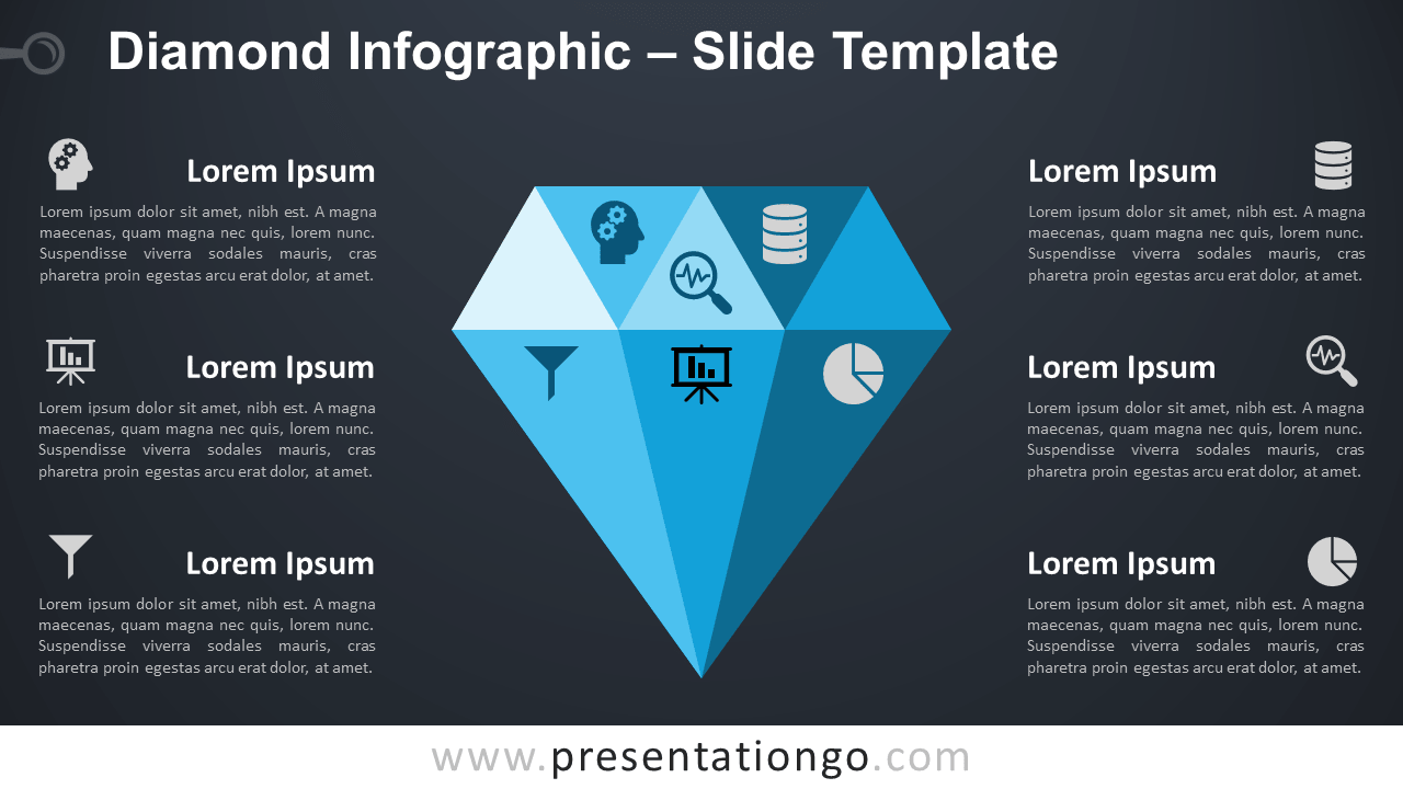 Free Diamond Infographic for PowerPoint and Google Slides