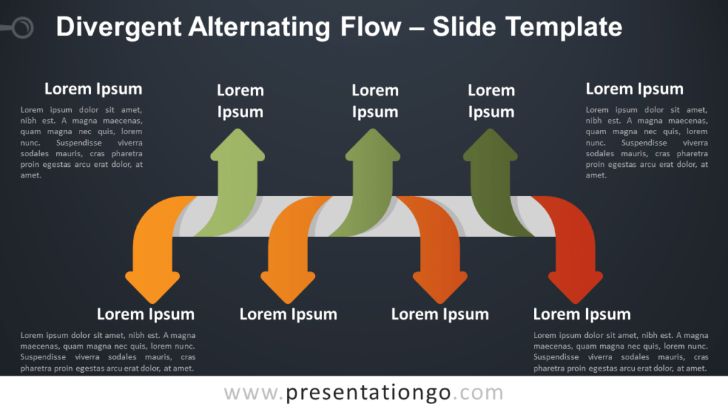 Free Divergent Alternating Flow Infographic for PowerPoint and Google Slides