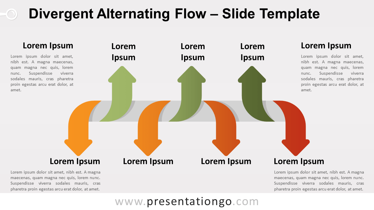 Free Divergent Alternating Flow for PowerPoint and Google Slides