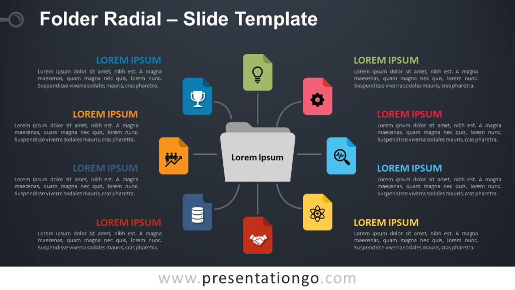 Free Folder Radial Infographic for PowerPoint and Google Slides