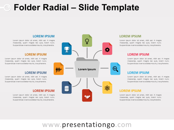 Free Folder Radial for PowerPoint