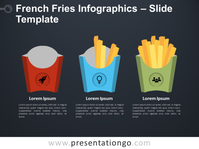 Free French Fries Infographics for PowerPoint