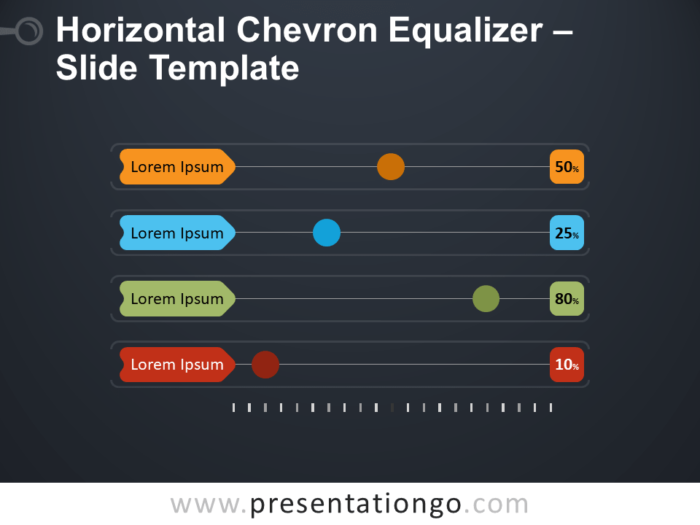 Free Horizontal Chevron Equalizer Infographic for PowerPoint