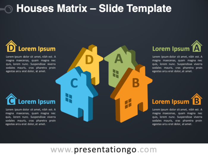 Free Houses Matrix Infographic for PowerPoint