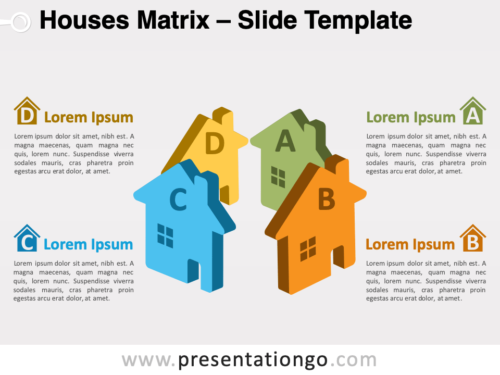 Free Houses Matrix for PowerPoint