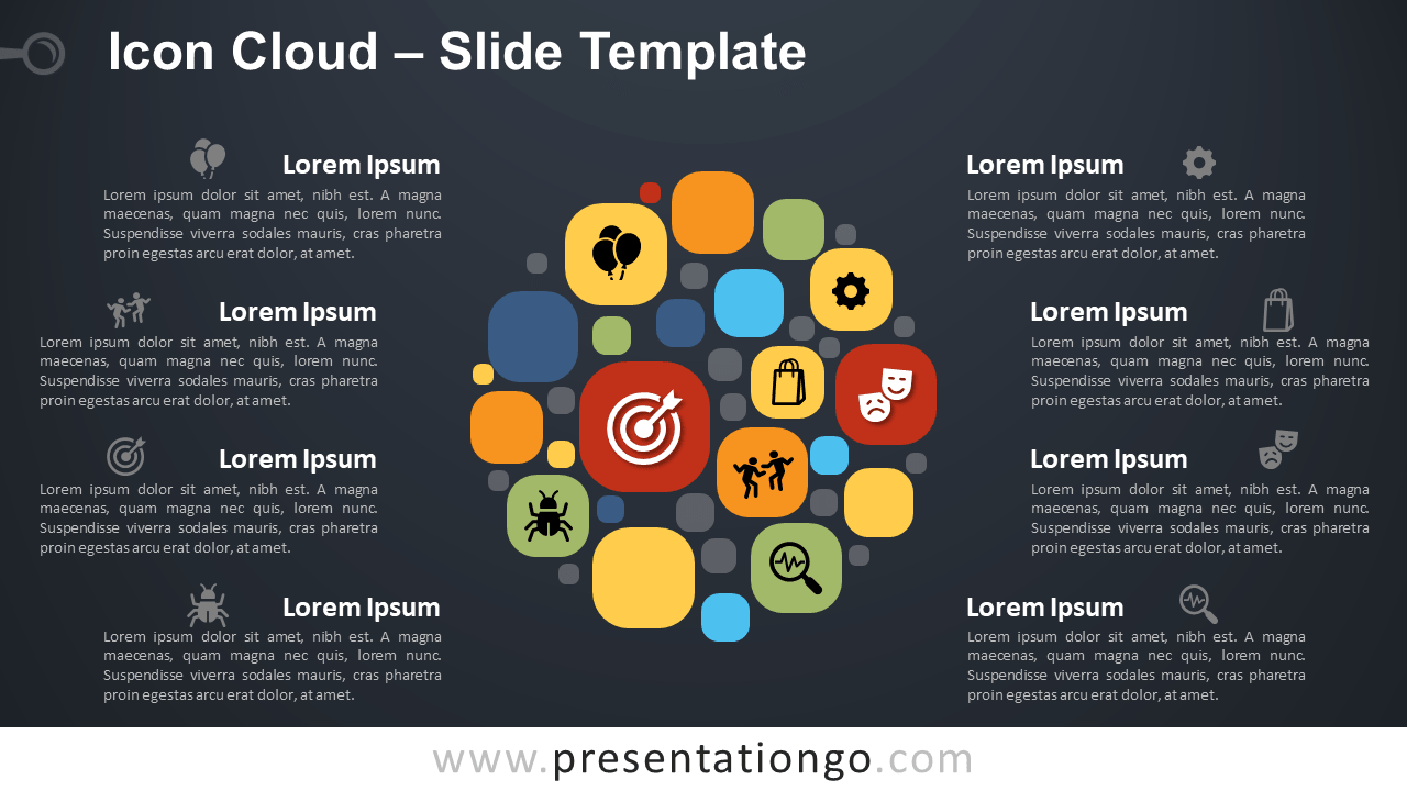 Free Icon Cloud Infographic for PowerPoint and Google Slides