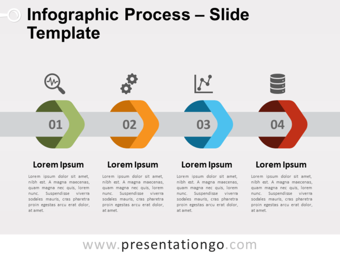 Free Infographic Arrows Process for PowerPoint