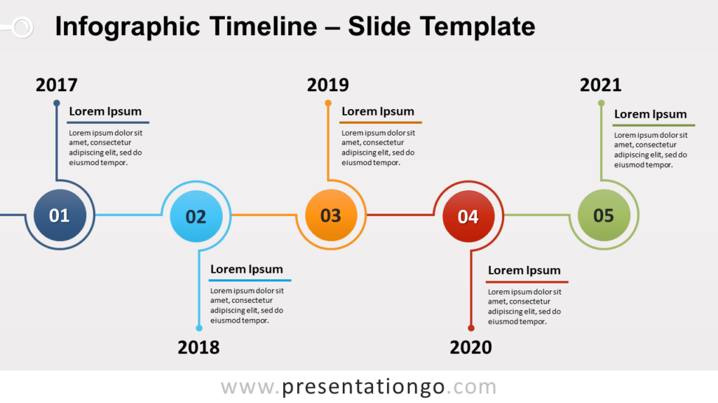 Free Infographic Timeline Slides for PowerPoint and Google Slides