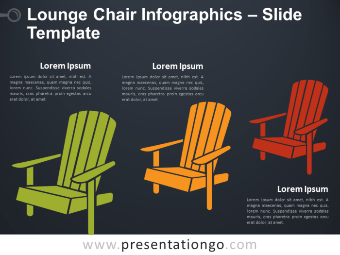 Free Lounge Chair Infographic for PowerPoint