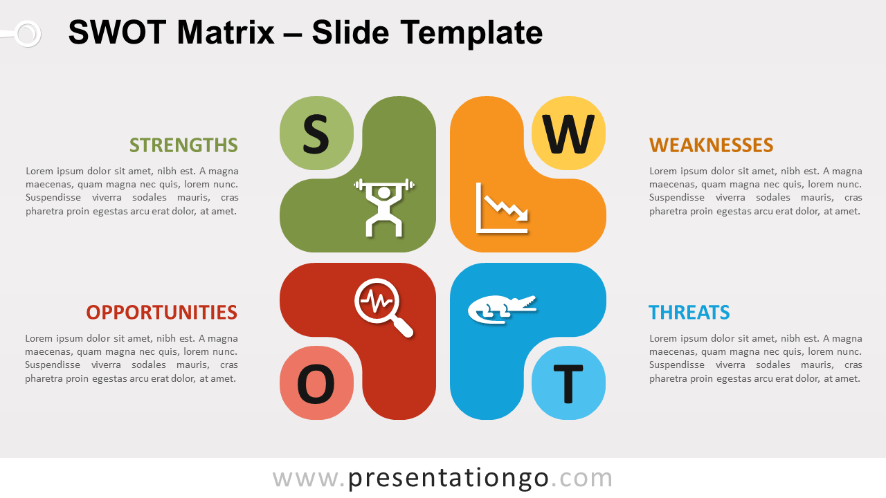 SWOT Abstract Infographic Matrix for PowerPoint