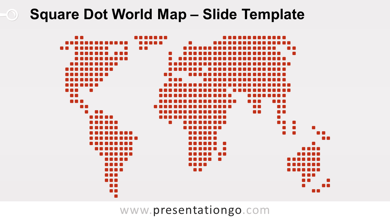 Free Square Dot World Map For PowerPoint and Google Slides