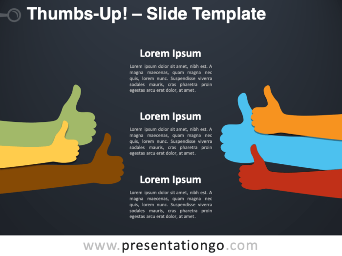 Free Thumbs-Up Infographic for PowerPoint