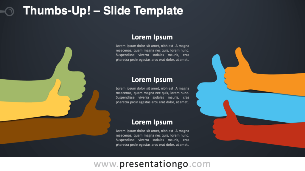 Free Thumbs-Up Infographic for PowerPoint and Google Slides