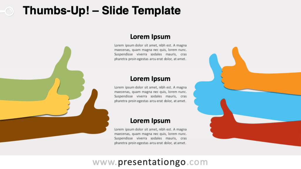 Free Thumbs-Up for PowerPoint and Google Slides