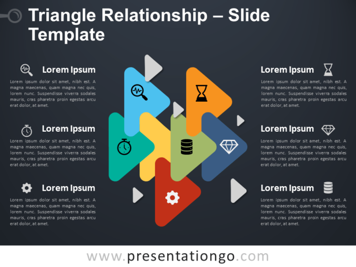 Free Triangle Relationship Infographic for PowerPoint