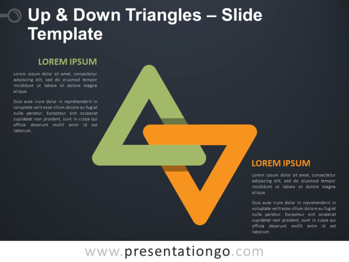 Free Up and Down Triangles Infographic for PowerPoint