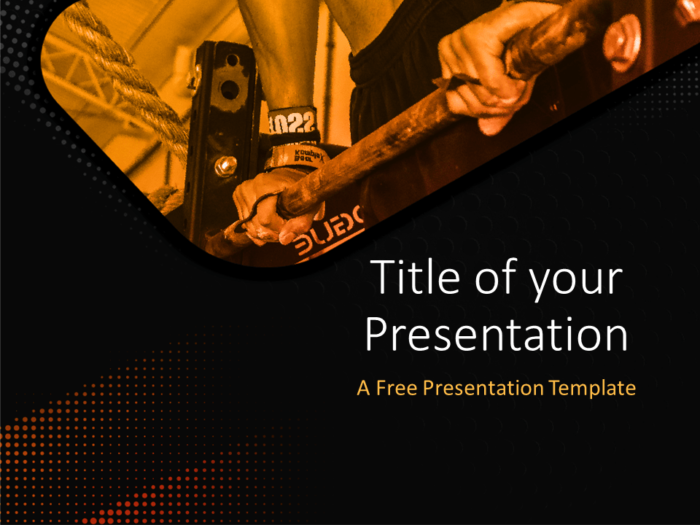 01 - CROSSFIT - Sports - Free PowerPoint Template - Cover