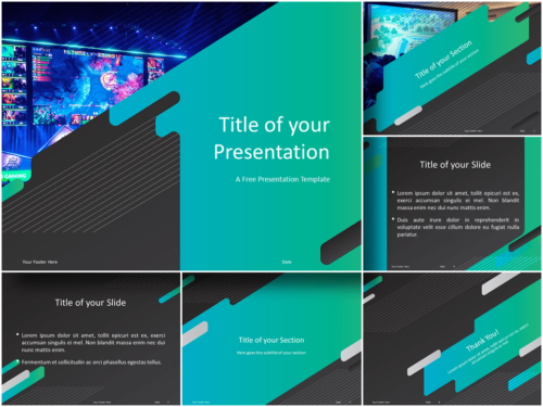 Free Gaming Template for Powerpoint and Google Slides - Featured Image