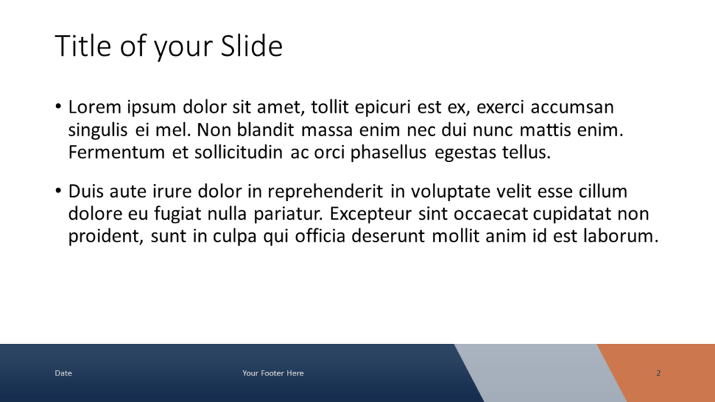Voonex - Business Template for Google Slides - Title and Content (variant 1)