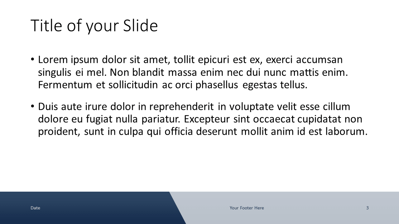 Voonex - Business Template for Google Slides - Title and Content (variant 2)