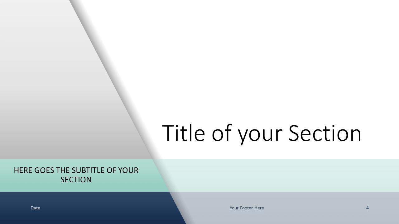 Voonex - Business Template for Google Slides - Section (variant 1)