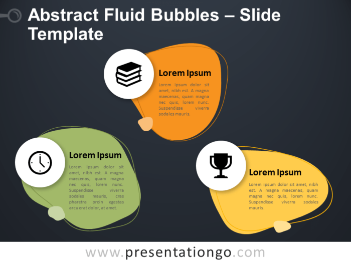 Free Abstract Fluid Bubbles Infographic for PowerPoint