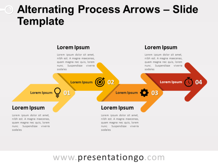 Free Alternating Process Arrows for PowerPoint