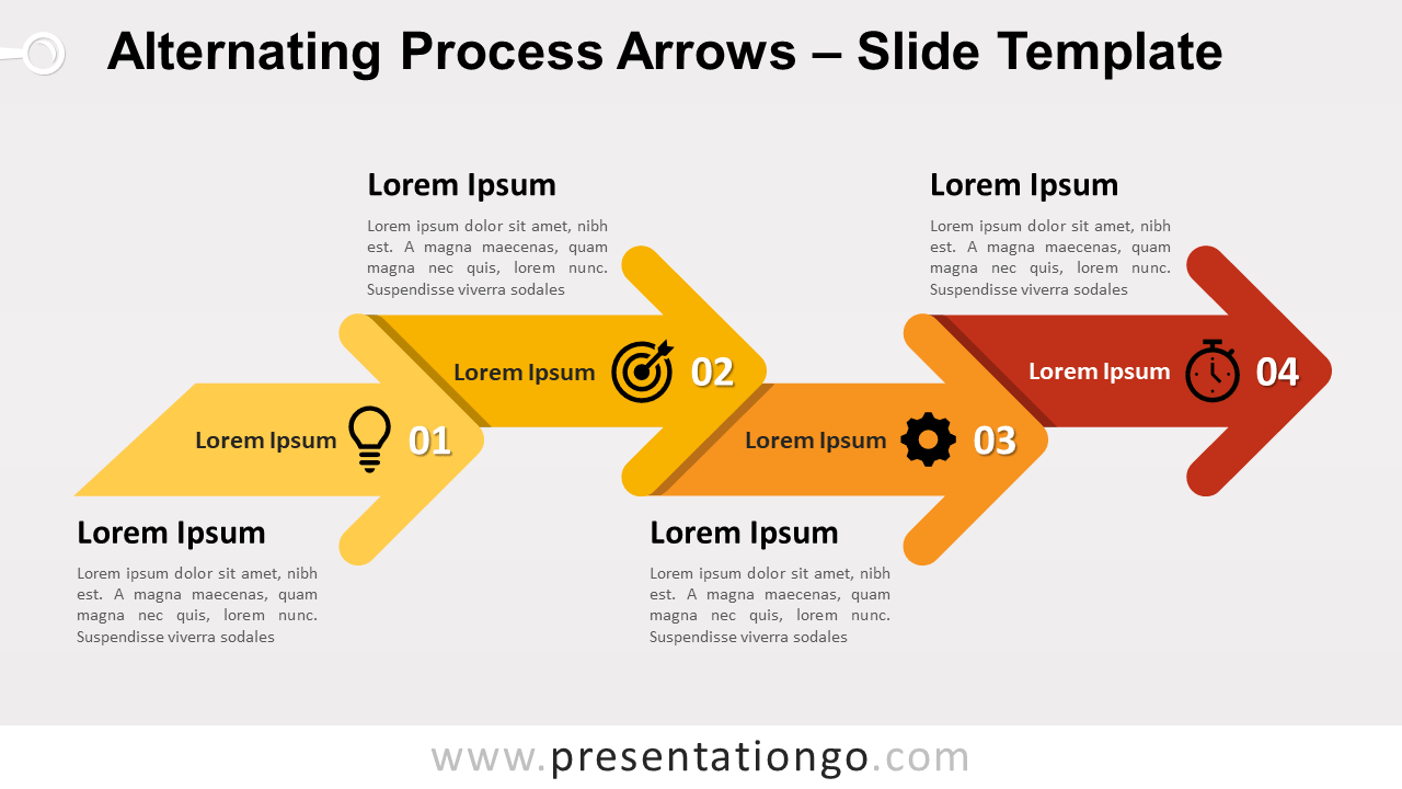 Free Alternating Process Arrows for PowerPoint and Google Slides