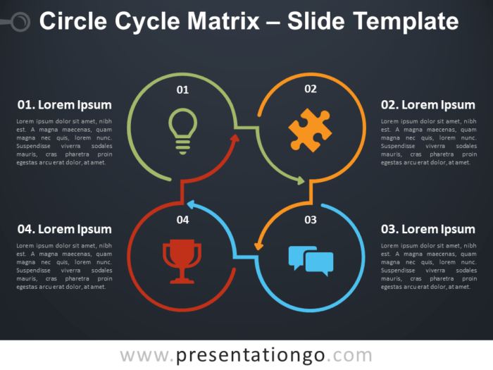 Free Circle Cycle Matrix Infographic for PowerPoint