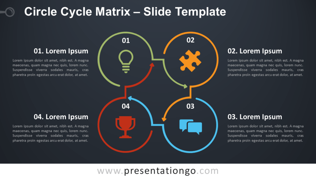 Free Circle Cycle Matrix Infographic for PowerPoint and Google Slides