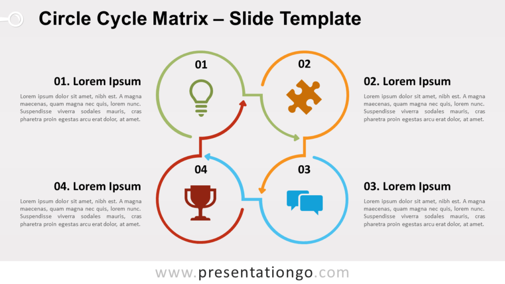 Free Circle Cycle Matrix for PowerPoint and Google Slides